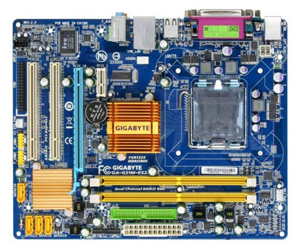 GIGABYTE GA-G31M-ES2L + INTEL CORE2 DUO E8600 + 4 GB MÄLU