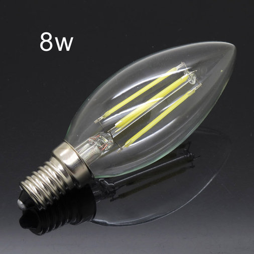 8W E14 FILAMENT / CANDLE LED PIRNID LAMBID