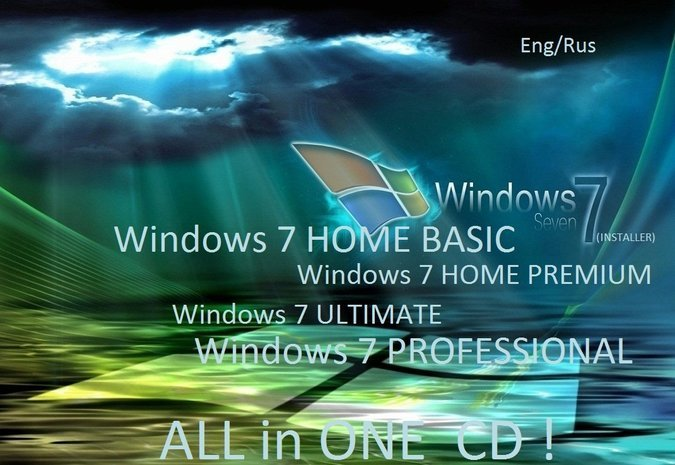 WINDOWS 7 ( HOME BASIC, ULTIMATE, PROFESSIONAL) ENG.,RU.,