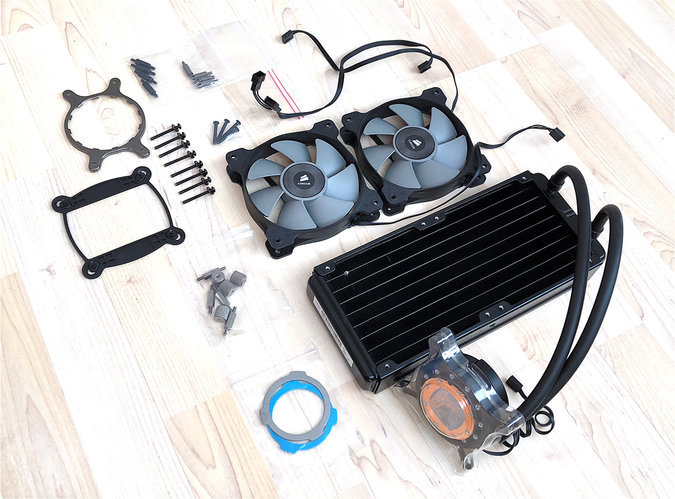CORSAIR H105 240MM EXTREME PERFORMANCE LIQUID CPU COOLER
