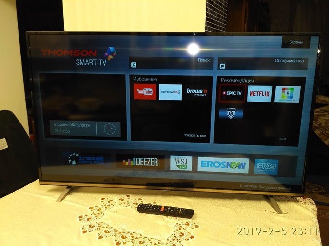 55'' ULTRA HD LED LCD-TELER THOMSON, 55UA6406