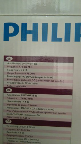 DIGI-TV ANTENN PHILIPS SDV5100/12