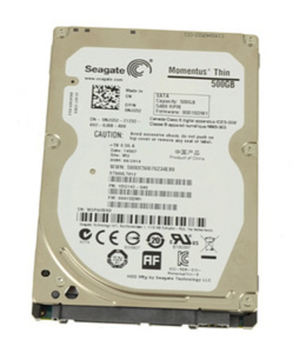 "SEAGATE MOMENTUS THIN 500GB SATA 6GBP/S 2.5"" 5400RPM LAPTOP"