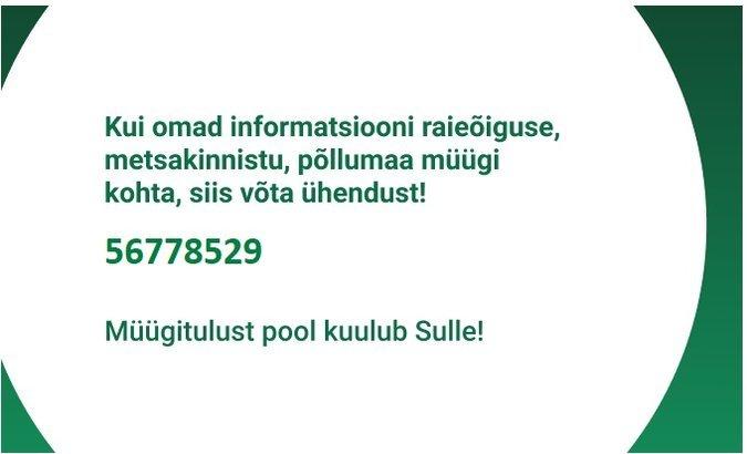 639973da0ae RAIEÕIGUS, METSAKINNISTU, PÕLLUMAA