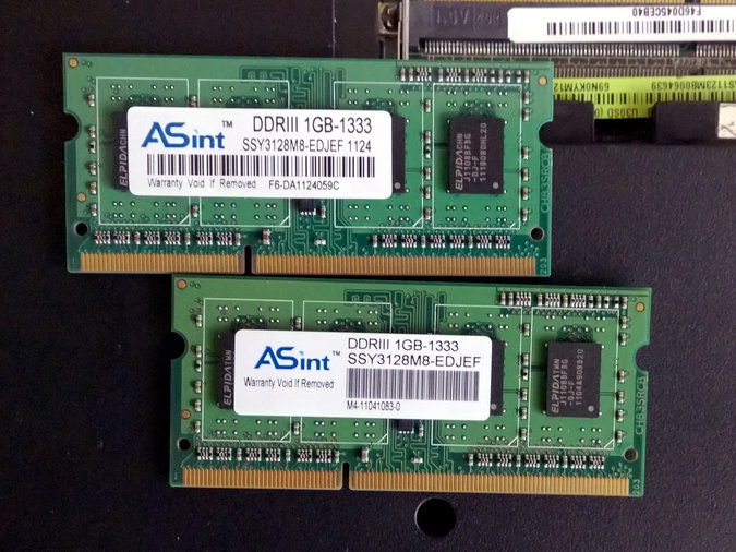 DDR3 ASINT 2X1GB 1333MHZ PC3-10600 SO-DIMM 204 PIN