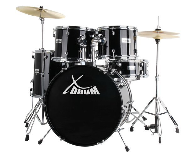 "TRUMMIKOMPLEKT TRUMMID XDRUM SEMI 22"" SET MIDNIGHT BLACK+DVD"
