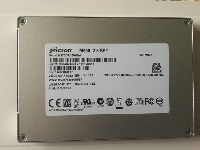 MACBOOK PRO SSD (CRUCIAL M500, 240GB)