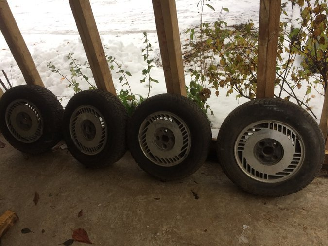 4X108 SET OF AL.WHEELS WITH WINTER TIRES