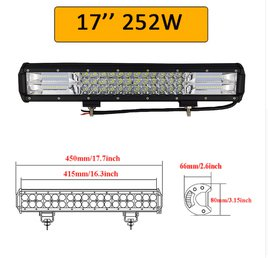 03cca6f9c3f 252W LED BAR LISA-/KAUG-/TÖÖTULI AUTOLE, ,MAASTURILE, müük, kuulutus ...