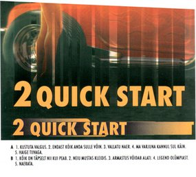 "WANT TO BUY 2 QUICK START'S 1994 ALBUM ""2 QUICK START"" ON CD"