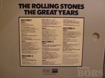 "ROLLING STONES ""THE ROLLING STONES GREAT YEARS"" 4 LP"