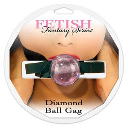 DIAMOND BALL GAG, PINK - SUUPALL