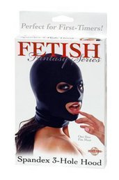 SPANDEX 3 HOLE HOOD, BLACK