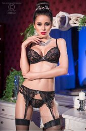 CHILIROSE BLACK BRA SET 3 PCS