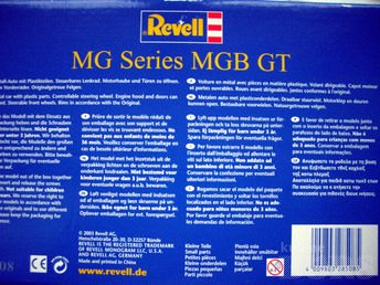 1:18 SCALE, REVELL, MG SERIES MGB GT