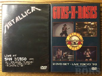 GUNS´N´ROSES 2DVD SET + METALLICA 1DVD