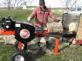 HALUMASIN / FASTEST LOG SPLITTER WITH 34 TONS SPLITTING FORCE: Fastest log splitter 34 T