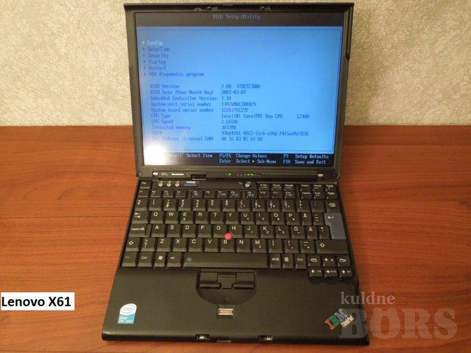 675b2d741e9 IBM LENOVO X60S, müük, kuulutus 82429650 - Kuldne Börs